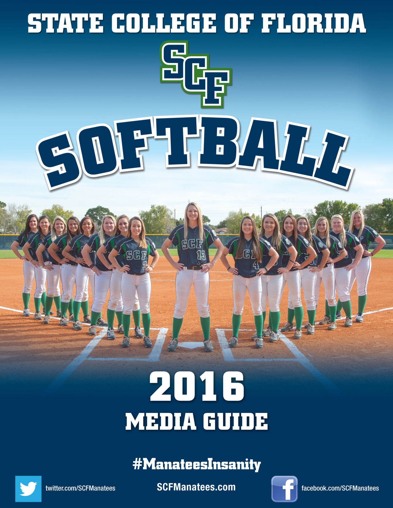 SCF's Communications & Marketing Department won a First Place Award of Excellence from the Association of Florida Colleges for the College's 2016 Softball Media Guide.