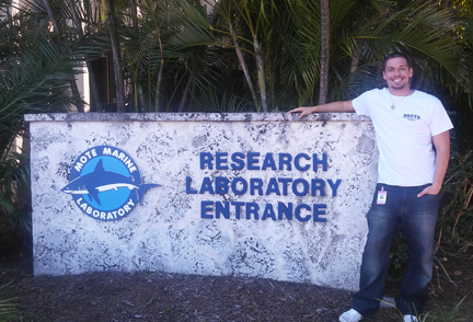 SCF's Matthew Britten has accepted an internship at Mote Marine Laboratory.