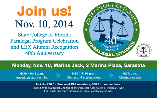 SCF Paralegal Program 40th Anniversary Celebration