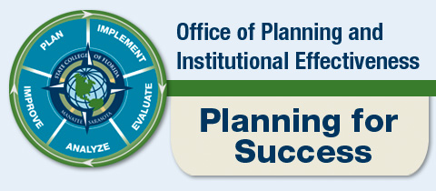 Office of Planning and Institutional Effectiveness logo with Planning for Success slogan