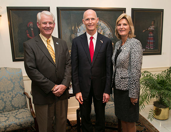 Dr. Probstfeld with Gov. Scott and Trustee Hager