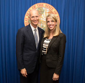 Gov. Rick Scott and Emily Colon