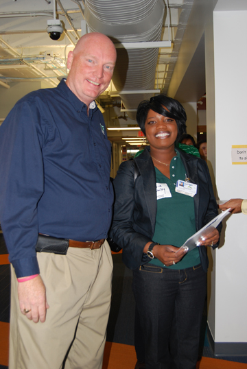 Dr. Hafner with Xtavia Bailey