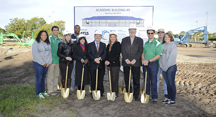 Groundbreaking with Students