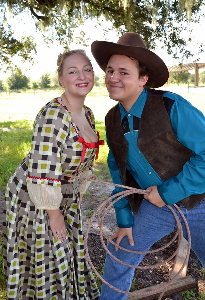 Miranda Mertens and Connor Schaff as Ado Annie and Will Parker