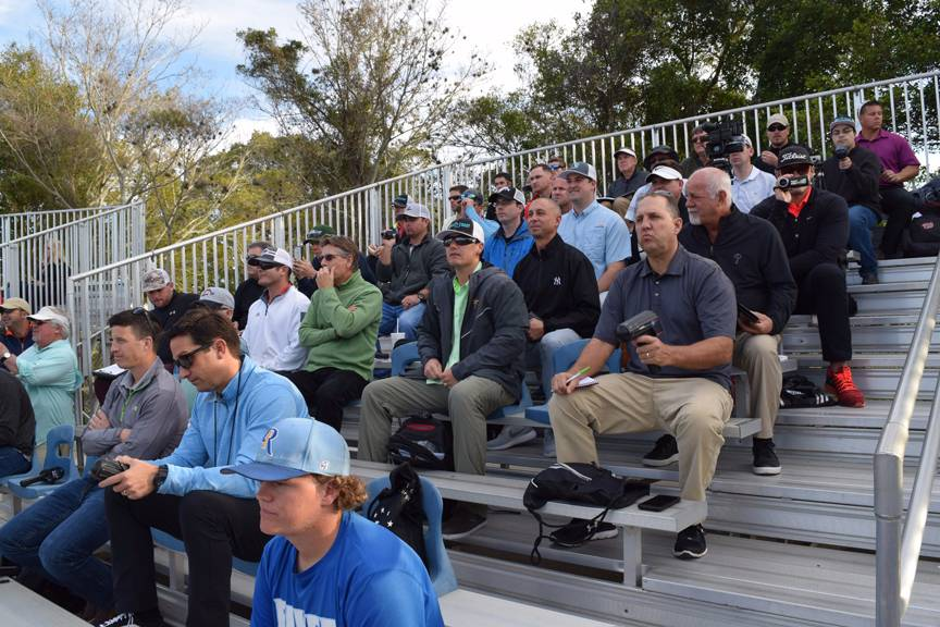 Baseball Scouts fill the stands during Baseball season