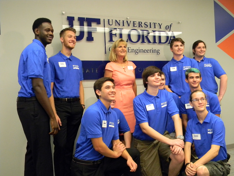 Dr. Carol Probstfeld with first class of Gator Engineering Students