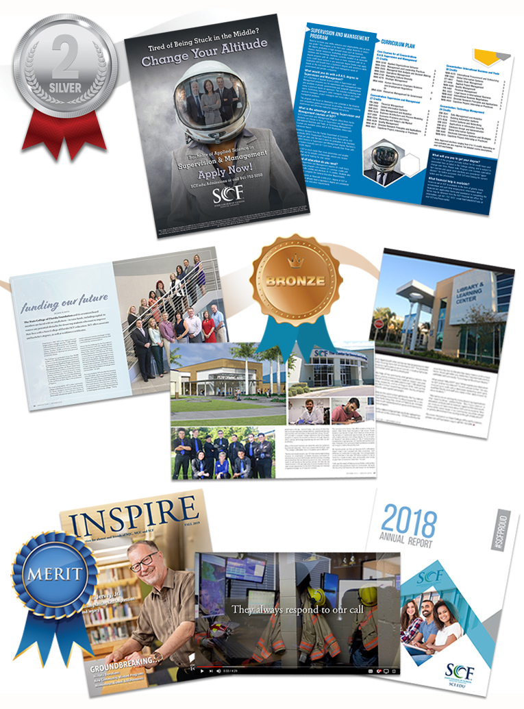 A sample of the work submitted to the 35th annual Educational Advertising Awards competition.