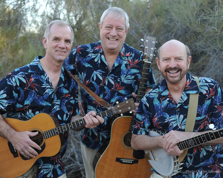 From left Rick Dougherty, Bill Zorn and George Grove of the Kingston Trio.
