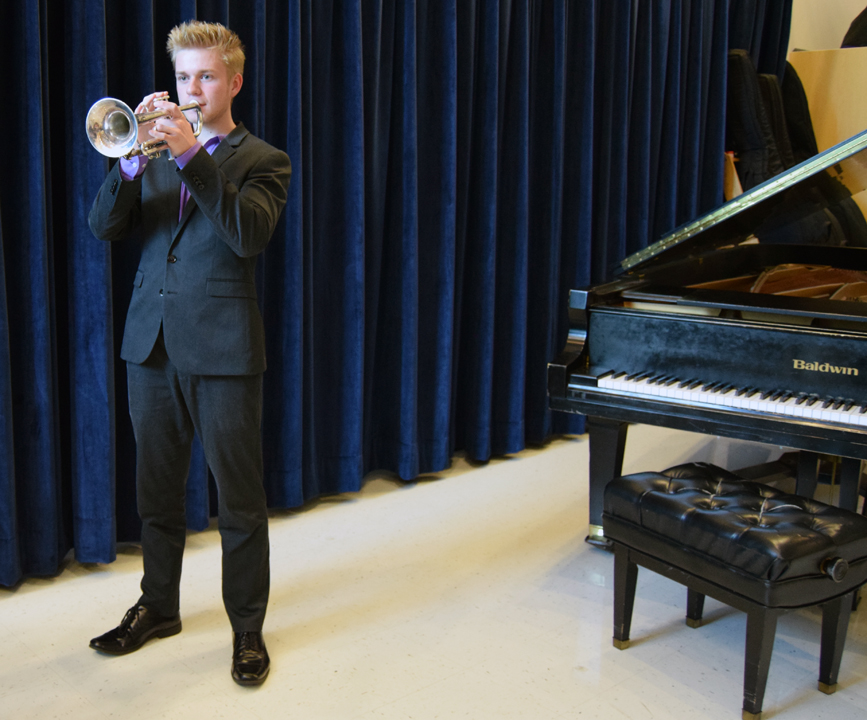 Luca Stine, a dual-enrolled student at SCF, will spend the summer performing on the national stage.