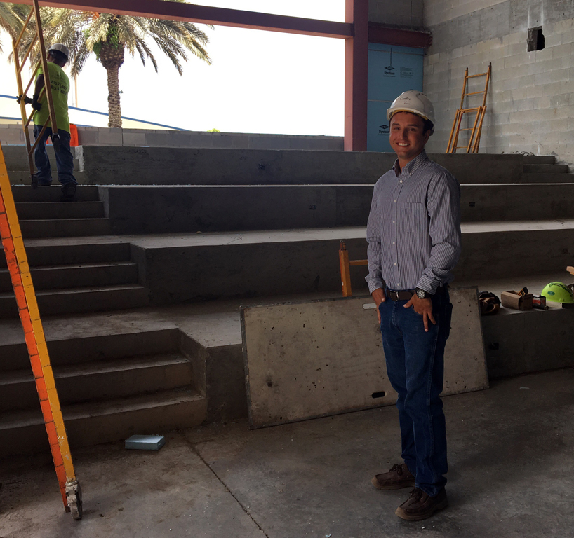 Rocco Pennella on site at the Library & Learning Center under construction at SCF Bradenton.