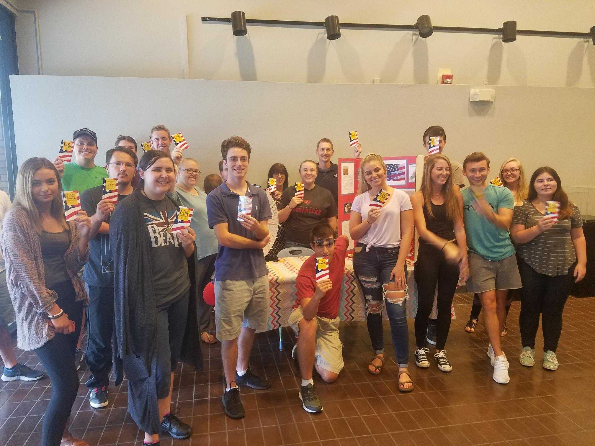 The History and Political Science Club at SCF Venice handed out pocket U.S. Constitutions.
