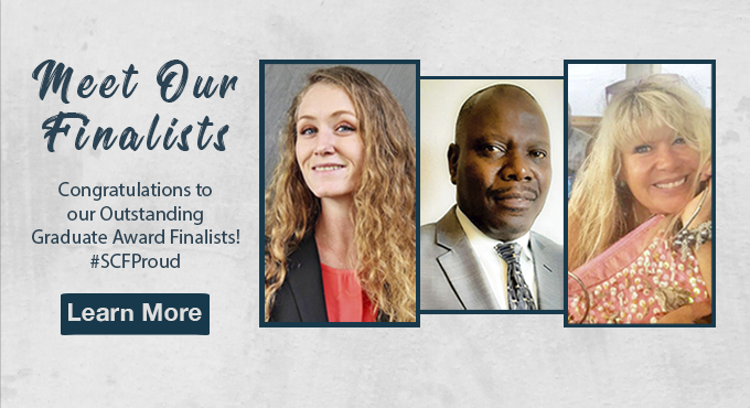 Slide: Outstanding Graduate Award finalists. Click to learn more.