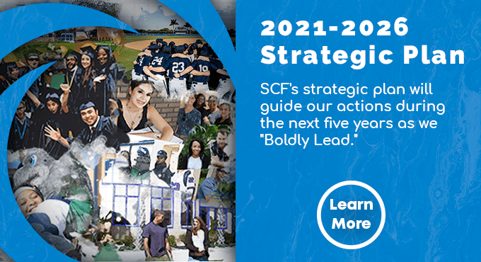 """SCF's 2021-26 Strategic Plan will guide our actions during the next five years as we """"Boldly Lead."""" Learn More"""
