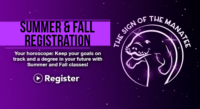 SCF Summer & Fall Registration - Sign of the Manatee, Apply Now!