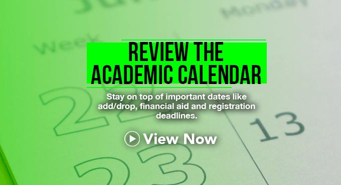 Academic Calendar - Review Now