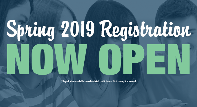 Spring 2019 Registration Open