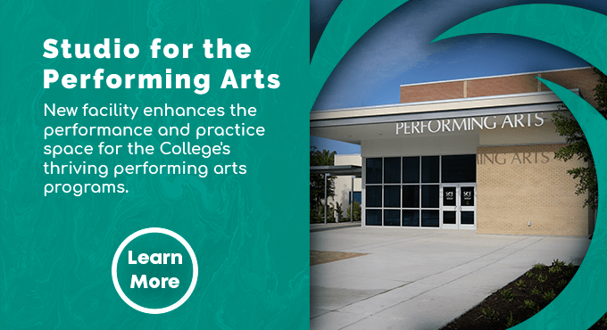 The new Studio for the Performing Arts facility enhances performance and practice space for the College! Learn More