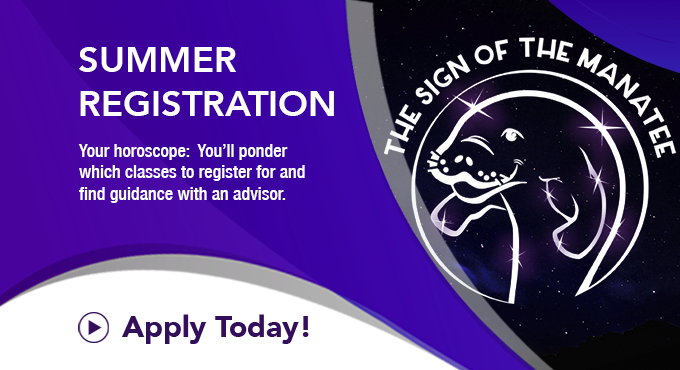 SCF Summer Registration - Sign of the Manatee, Apply Now!