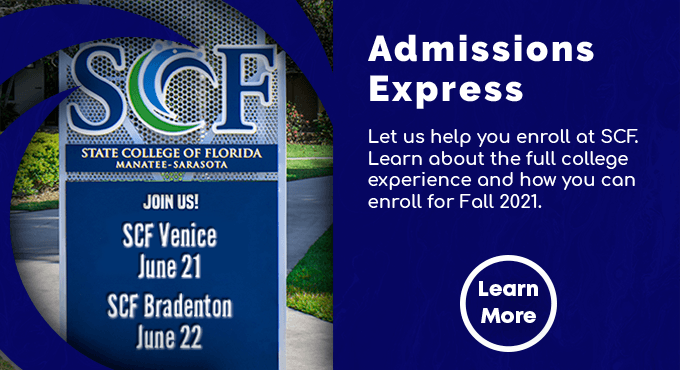 Let us help you enroll at SCF. Learn about the full college experience and how you can enroll for Fall 2021.